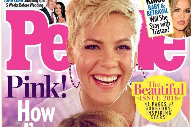 Emblemática. Pink! fue la cara de la portada para anunciar el giro de la revista.