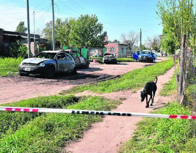 violencia. Tras el crimen vecinos quemaron autos y la casa de Néstor D.