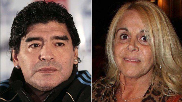 Claudia Villafañe reveló por qué Maradona le hace la vida imposible