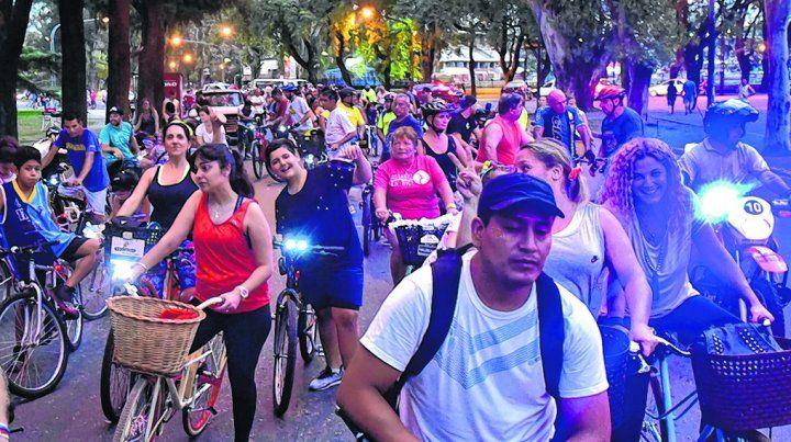 incentivo. La iniciativa buscó promocionar el transporte no motorizado.