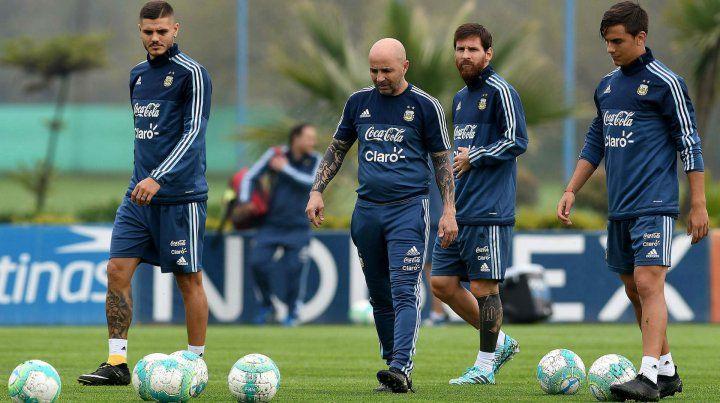 ¿Irán a Rusia? Icardi y Dybala ya estuvieron en la selección con Sampaoli y Messi en el inicio del ciclo.