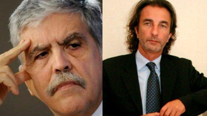 Dúo. De Vido y Angelo Calcaterra (primo de Macri)