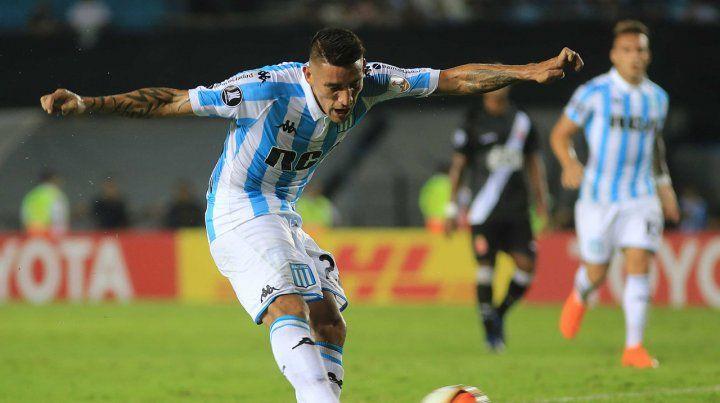 Está imparable. Ricardo Centurión marcó en la goleada de Racing ante Vasco.