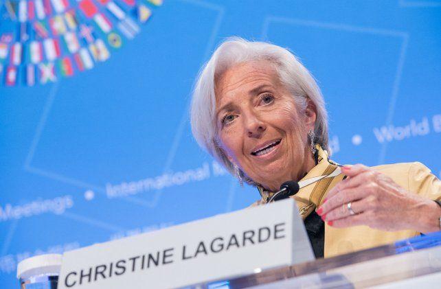 Mirada. La titular del FMI encabezó la reunión de primavera del organismo.