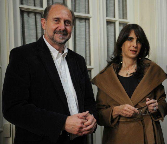 Omar Perotti y María Eugenia Bielsa.