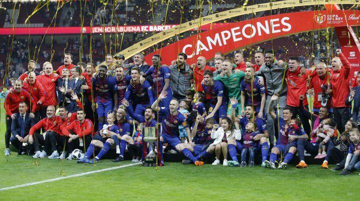 El festejo de los campeones.