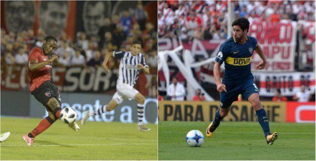 Lesionado. Leal se resintió contra Talleres y se pierde el partido en La Bombonera.Suspendido. Pablo Pérez fue expulsado contra Independiente y quedó al margen.