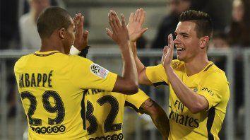 Festejo. Lo Celso le dio la victoria al PSG francés, ya consagrado en la Ligue 1.