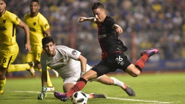Reacción a tiempo. Fértoli convirtió el descuento instantes después del segundo gol de Wanchope.