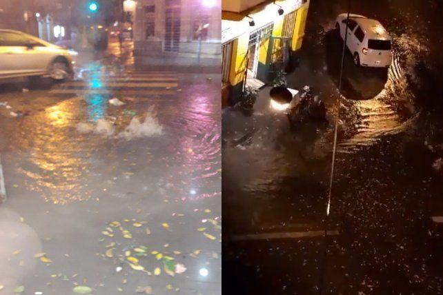 Calles anegadas. Los barrios sufrieron las consecuencias del temporal en la ciudad.