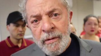 En las redes. Un video del expresidente brasileño Lula antes de entregarse se hizo viral.