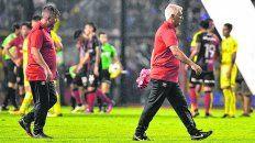 Sincero. De Felippe buscó en la previa sacarle la pelota a Boca, pero reconoció que sólo pudieron plasmarlo en el primer tiempo.