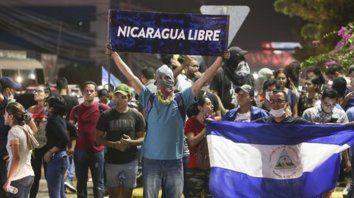 victoria. Los manifestantes seguían anoche en las calles de Managua.