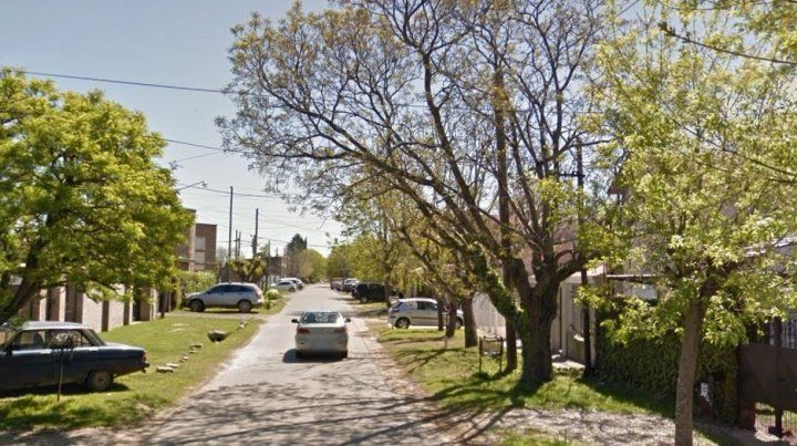 El lugar. La zona donde se produjo el robo y el asesinato del delincuente en La Plata.