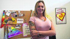 pionera. Sabrina Crespo tiene 33 años y es una de las  cinco trans que desde el año pasado trabajan en las oficinas de la  Municipalidad.