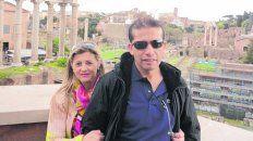 otros tiempos. La pareja de Horacio González y Rosana Migueles.