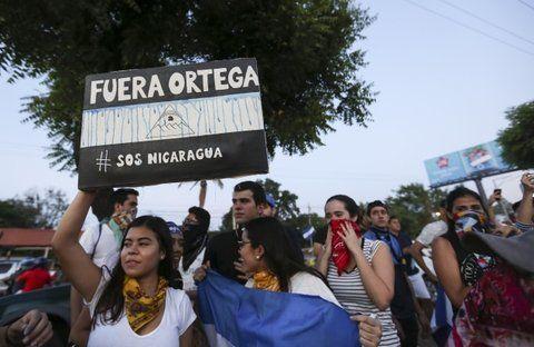 basta. Los habitantes de Managua salieron ayer nuevamente a la calle. Piden que se vaya Ortega.