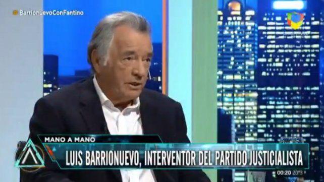 Barrionuevo: Si es candidata, Cristina no saca más de 15 puntos