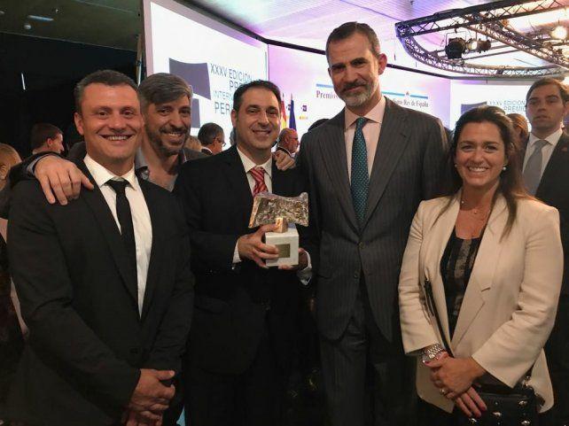 Un periodista rosarino recibió el premio Rey de España