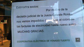 Cooperativa de Venado se niega a cobrar las facturas de luz