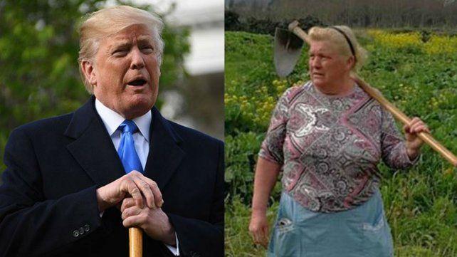 La gallega que se parece a Donald Trump es la foto viral del año