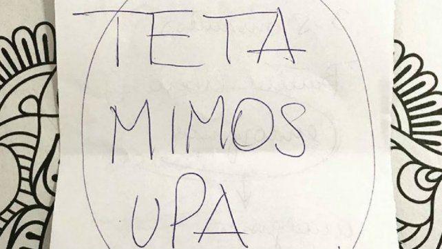 La imagen de la receta que escribió la pediatra María Rosa Peralta de un hospital de Bahía Blanca.