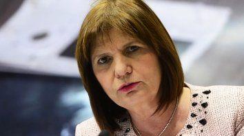 En un acto. La ministra Bullrich insistió en despegar a Gendarmería de la muerte de Maldonado.
