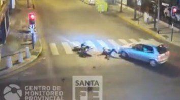 El impacto. Una de las imágenes del terrible choque ocurrido el sábado en la ciudad.