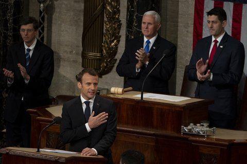 Llamado. El presidente francés dio un fuerte respaldo al multilateralismo.
