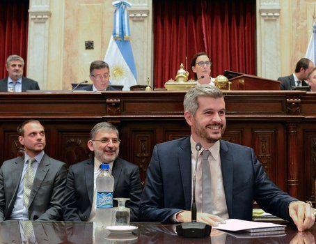 sonriente. Peña dijo que el tarifazo es culpa del gobierno anterior.