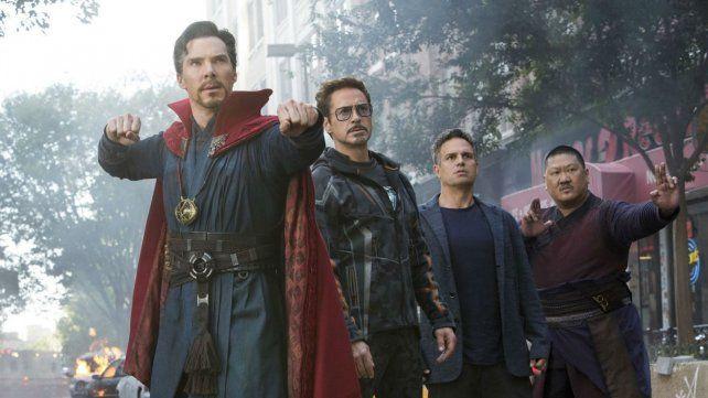 Benedict Cumberbatch, Robert Downey Jr. y Mark Ruffalo.
