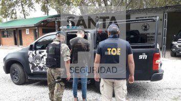 El detenido fue trasladado por la Tropa de Operaciones Especiales (TOE).