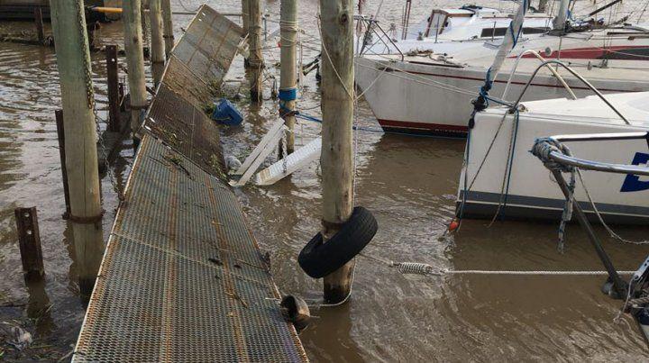 Veleros hundidos, 60 árboles caídos y decena de techos volados por los fuertes vientos