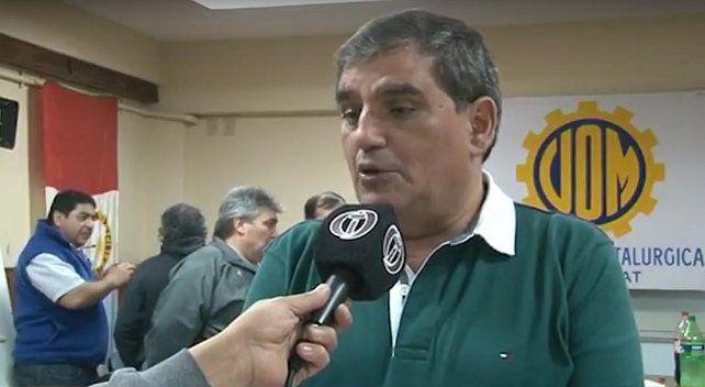 Antonio Donello, de la UOM Rosario.