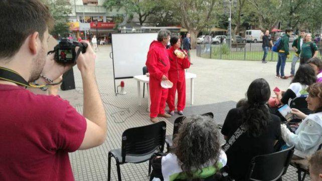 La intervención que hicieron los docentes universitarios para reclamar por sus salarios (Foto: Asociación Gremial Docente).