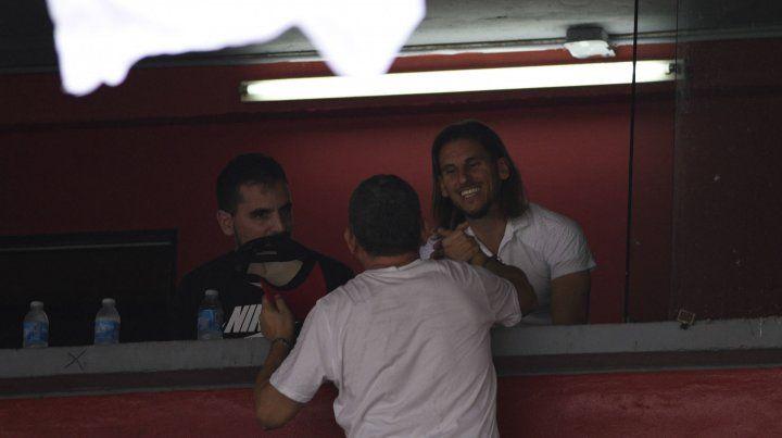 Hombre de selección. Beccacece fue a ver jugadores de Independiente.
