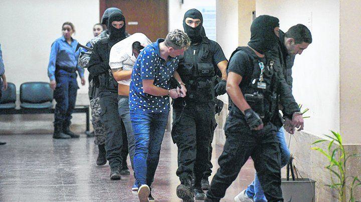 en la mira. René Ungaro fue llevado ayer desde Piñero a Tribunales donde fue imputado con otras siete personas.