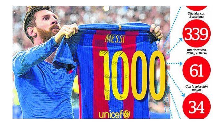 Marca. En enero se anunció el gol mil