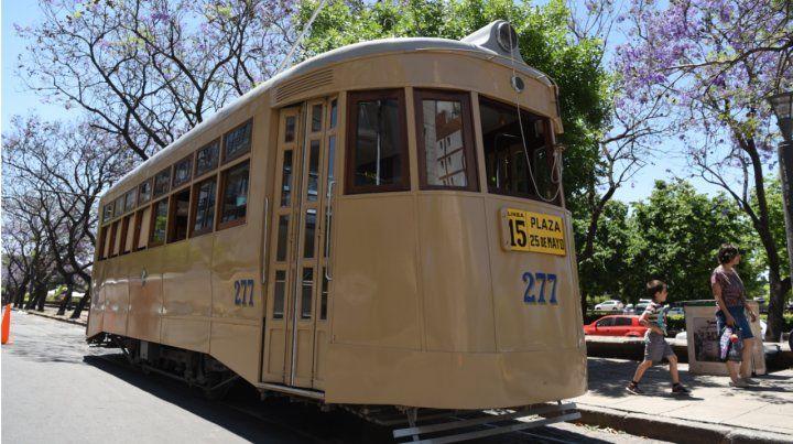 Vuelve el tranvía histórico por calle Wheelwright