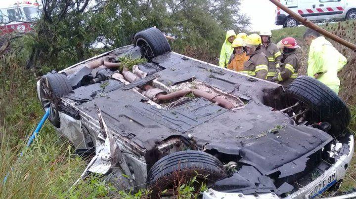 Un muerto en un tremendo accidente en la autopista que une Rosario con Santa Fe