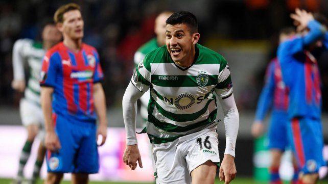 Gran nivel. Battaglia se acomodó en Sporting de Lisboa y llamó la atención de Sampaoli.