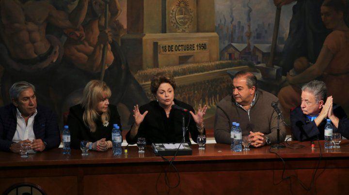 La CGT celebró el Día del Trabajador con Dilma Rousseff
