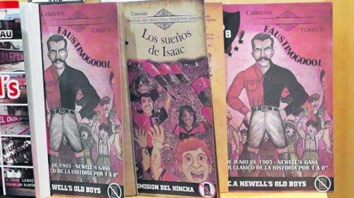 Libros en rojo y negro en la Feria de Buenos Aires