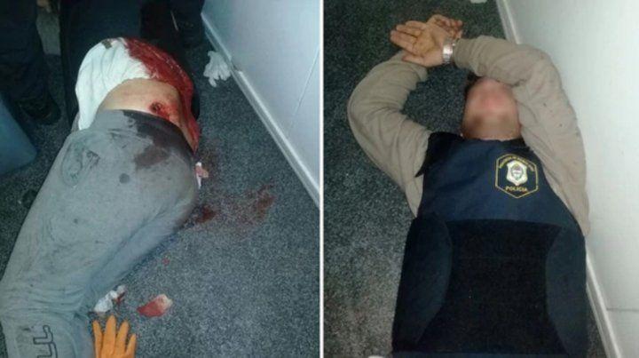 Un delincuente y un policía heridos tras un tiroteo dentro de un destacamento policial