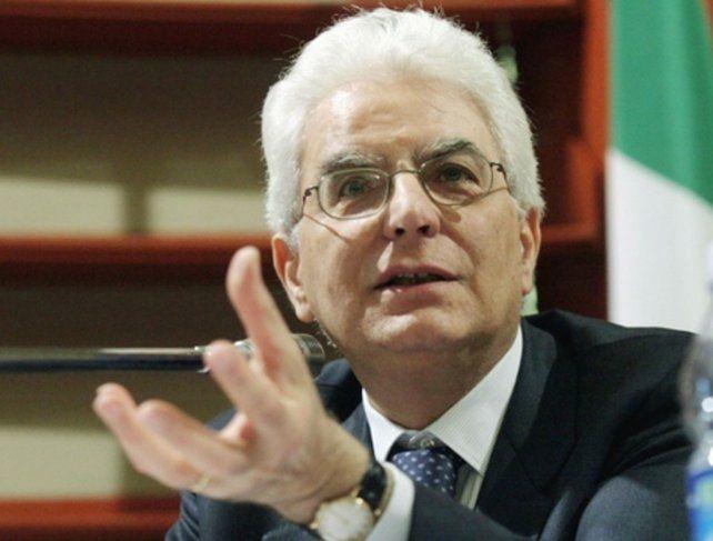 Sin coalición. Sergio Mattarella lideró sin éxito dos rondas de consultas.
