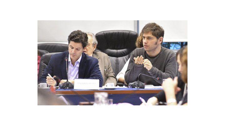 debate. Los diputados Luciano Laspina (Cambiemos) y Axel Kicillof (FPV)