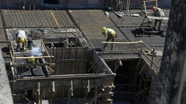 Clave. En un año la construcción creció un 73 por ciento.