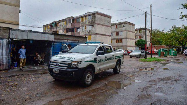 Efectivos de Gendarmería en Cerrito y Tte. Agneta