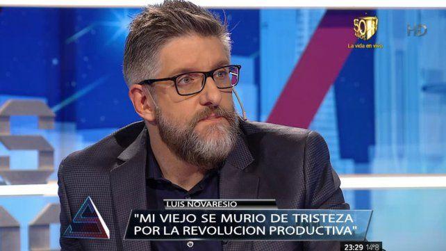Novaresio contó el motivo personal por el que no entrevistará a Cavallo