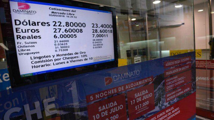 Así se reflejó la suba de la divisa estadounidense en las casas de cambio de Rosario.